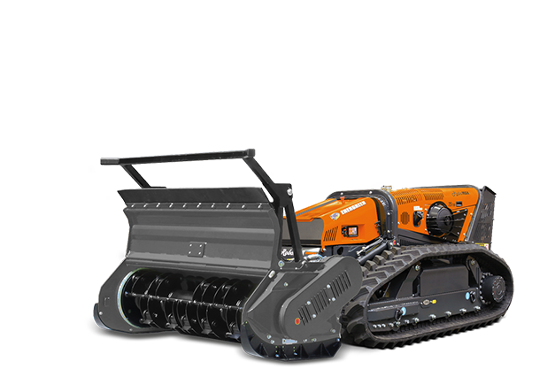 robomax - equipment - forestry head with rotary hammers - energreen professional machines