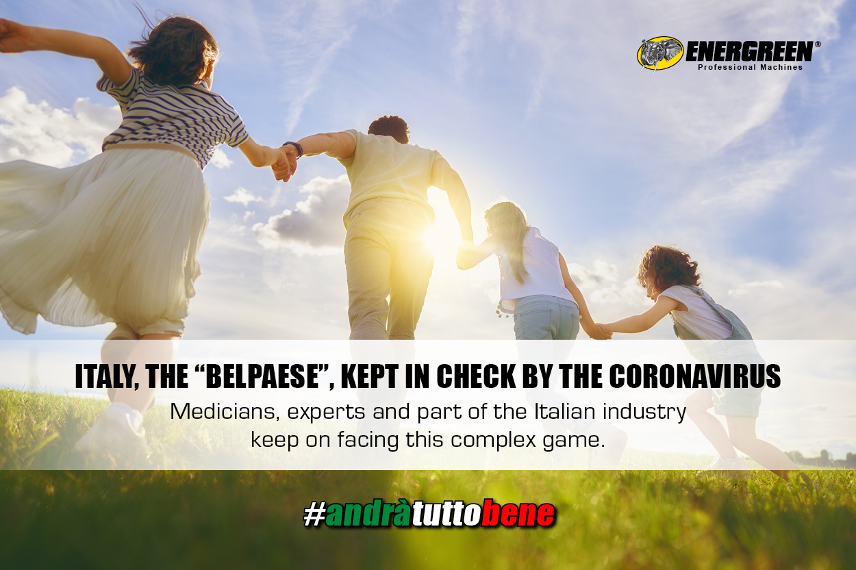 """ITALY, THE """"BELPAESE"""", KEPT IN CHECK BY THE CORONAVIRUS"""