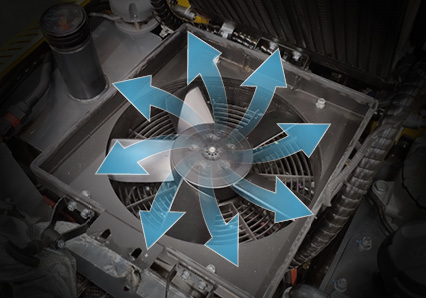 robomini - self cleaning reversable fan - energreen professional machines