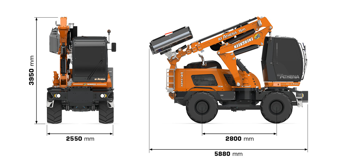 ilf athena - dimensions - energreen professional machines
