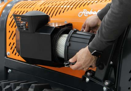 roboevo - air filter - radio controlled tracked mulcher slopes - energreen professional machines