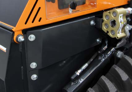 roboevo - components protection - radio controlled tracked mulcher slopes - energreen professional machines