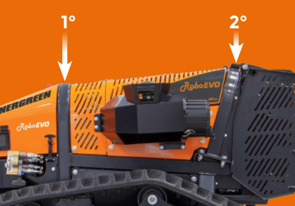 roboevo - double roll bar - radio controlled tracked mulcher slopes - energreen professional machines