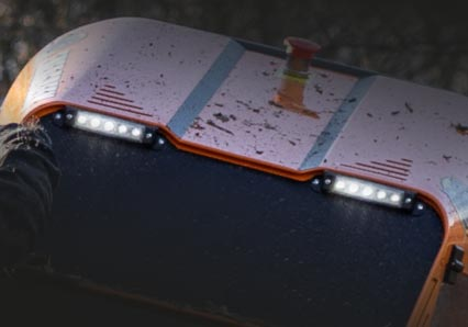 roboevo - led lights - radio controlled tracked mulcher slopes - energreen professional machines