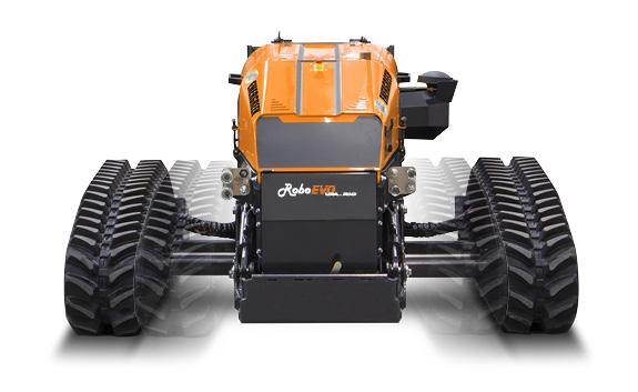 roboevo vaario - front - radio controlled tracked mulcher slopes - energreen professional machines