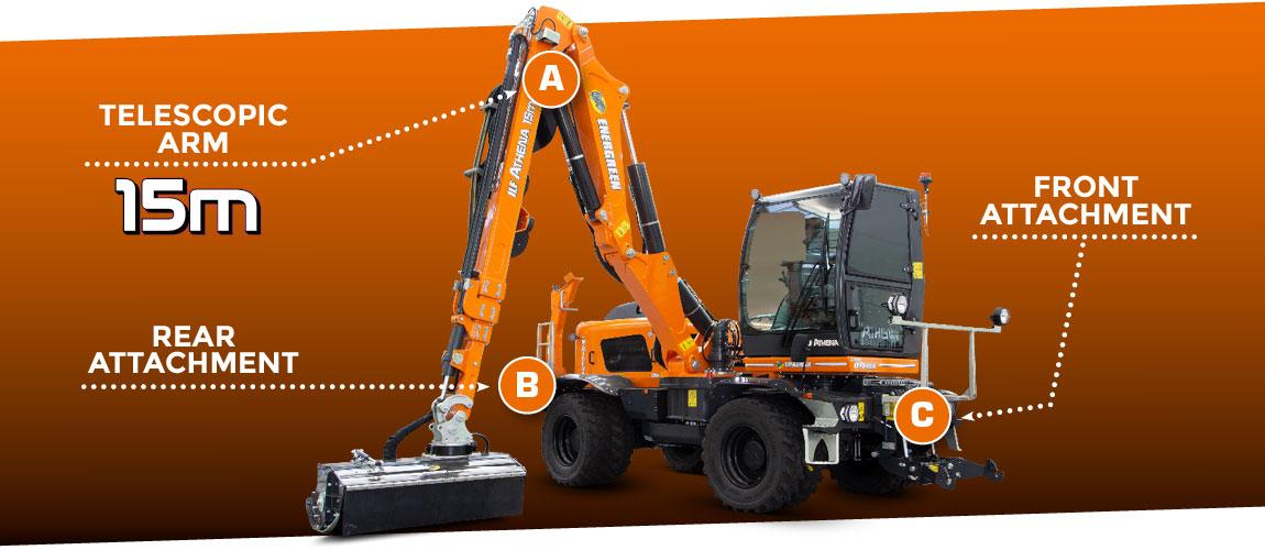 ilf athena - multifunction arm - energreen professional machines