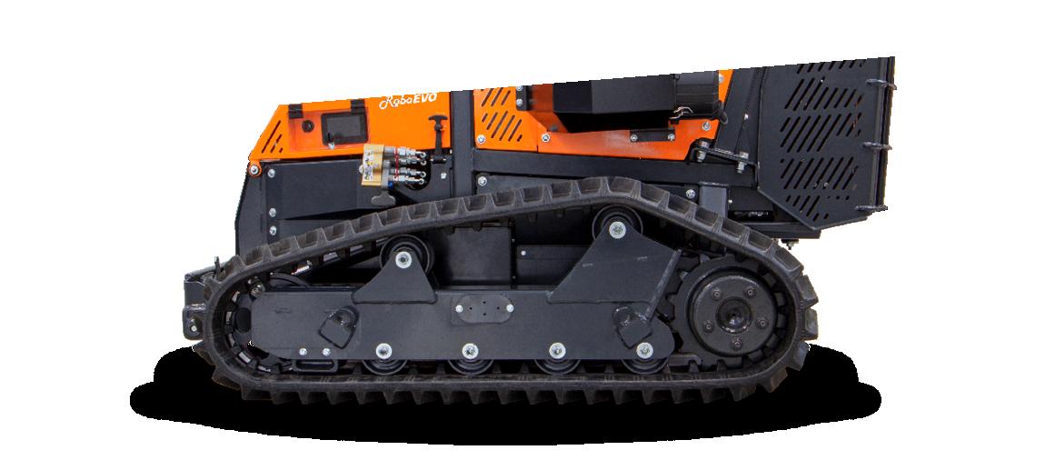 roboevo - new tracks profile - remote controlled mower - tracks profile - energreen professional machines