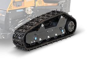 roboevo - adjustable tracks and spikes - radio controlled mulcher - energreen professional machines