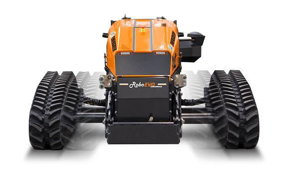 roboevo vaario - remote controlled mower - adjustable tracks - energreen professional machines