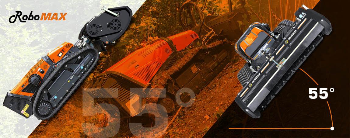 robomax - forestry mulcher - maximum slope - energreen professional machines