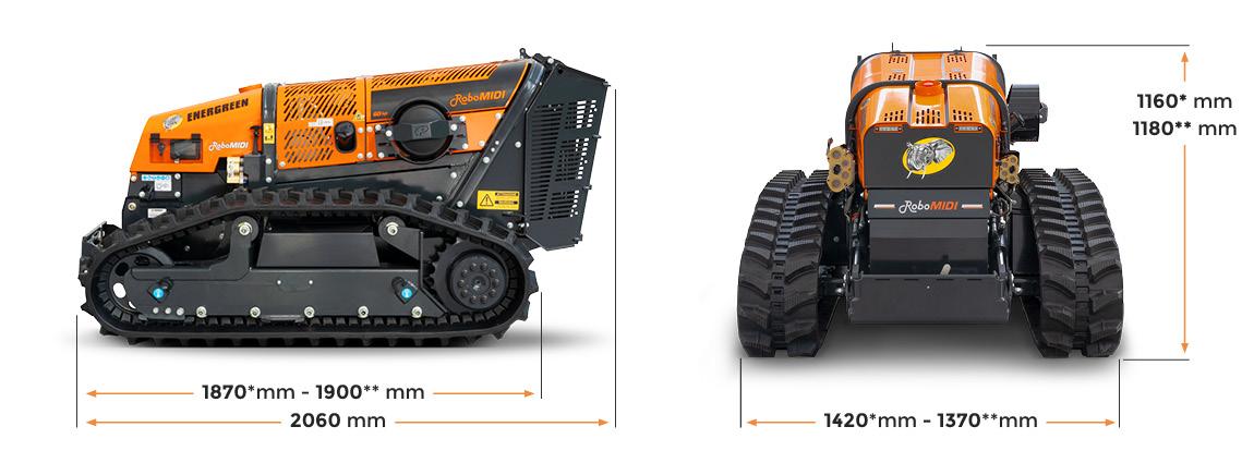 robomidi - dimensions - multifunction robo - energreen professional machines