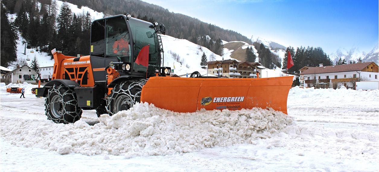 self propelled hydrostatic machines - ilf kommunal - winter environment - energreen professional machines